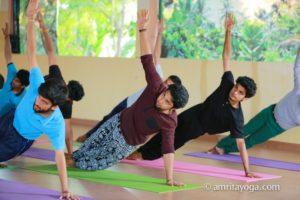 Amrita Yoga plank pose