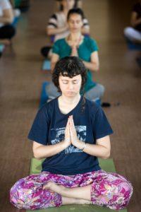 Amrita Yoga prayer pose