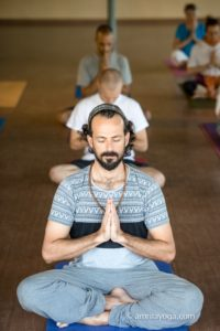 amrita yoga meditation pose