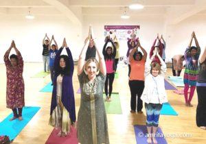 USA-L.A. Satsang Devotees and General Public amrita yoga IDY.