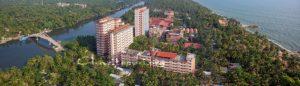 Amritapuri ashram aerial shot