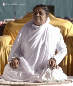 amma in meditation posture