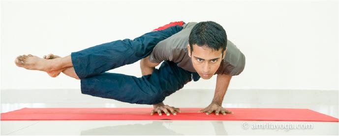 amrita yoga handstand asana