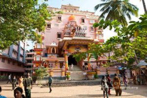 front view of main temple at amritapuri ashram