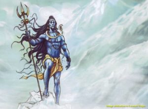 lord shiva ice himalayas with attribution