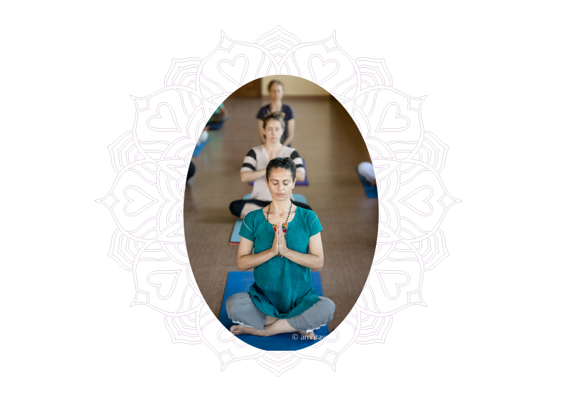 meditation photo and graphic for amrita yoga who we are page