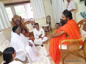 baba ramdev meets with amma