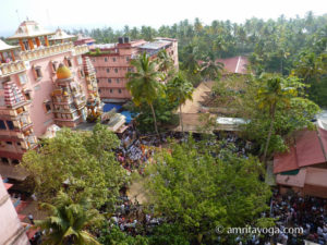 view of the Kali temple at amritapuri ashram