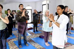 amrita yoga europe tour yoga class