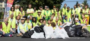 amma volunteers cleaning up litter and trash