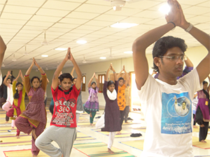 Amrita Yoga for Sanjeevanites at Amritapuri Campus, India