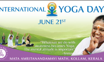 June 21st is the First-Ever International ‪Yoga Day, Amritapuri
