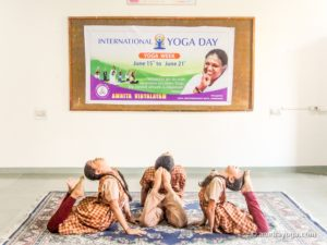 children's yoga, back bend