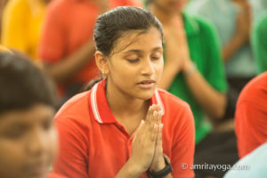 Kolkata Amrita Yoga prayer namaste