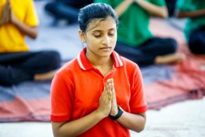 amrita yoga student in namaste new year