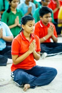 seated meditation namaste upasana