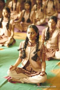 meditation padmasana pose teenager