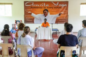 satsang talk at amrita yoga program