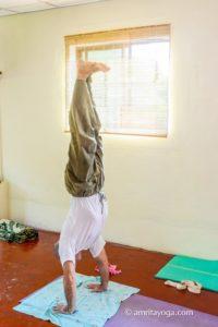 amrita yoga head stand