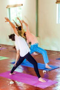 amrita yoga class side bend