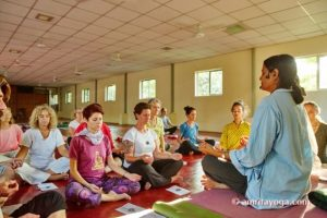 lecture at amrita yoga program