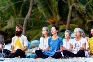 amritapuri beach meditation