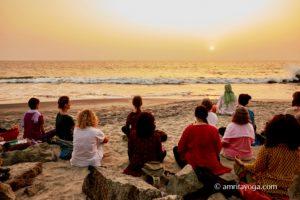amrita yoga beach meditation