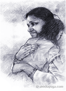 Amma Consoling, drawing