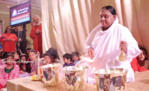 Amma at washington dc program, atma puja ceremony