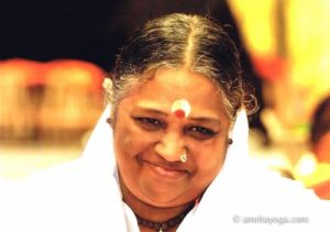 Mata Amritanandamayi Amma smiling.