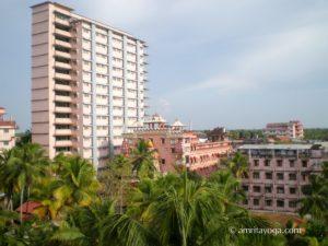 Amritapuri ashram tall building