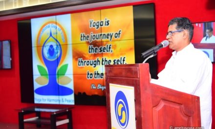 International Day of Yoga 2016 – Mata Amritanandamayi Math Partnering with Indian Ministry
