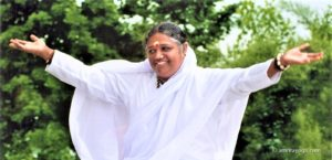amma with arms open