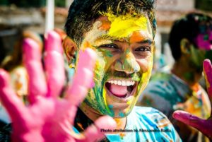 Holi festival man photo by Alessandro Baffa