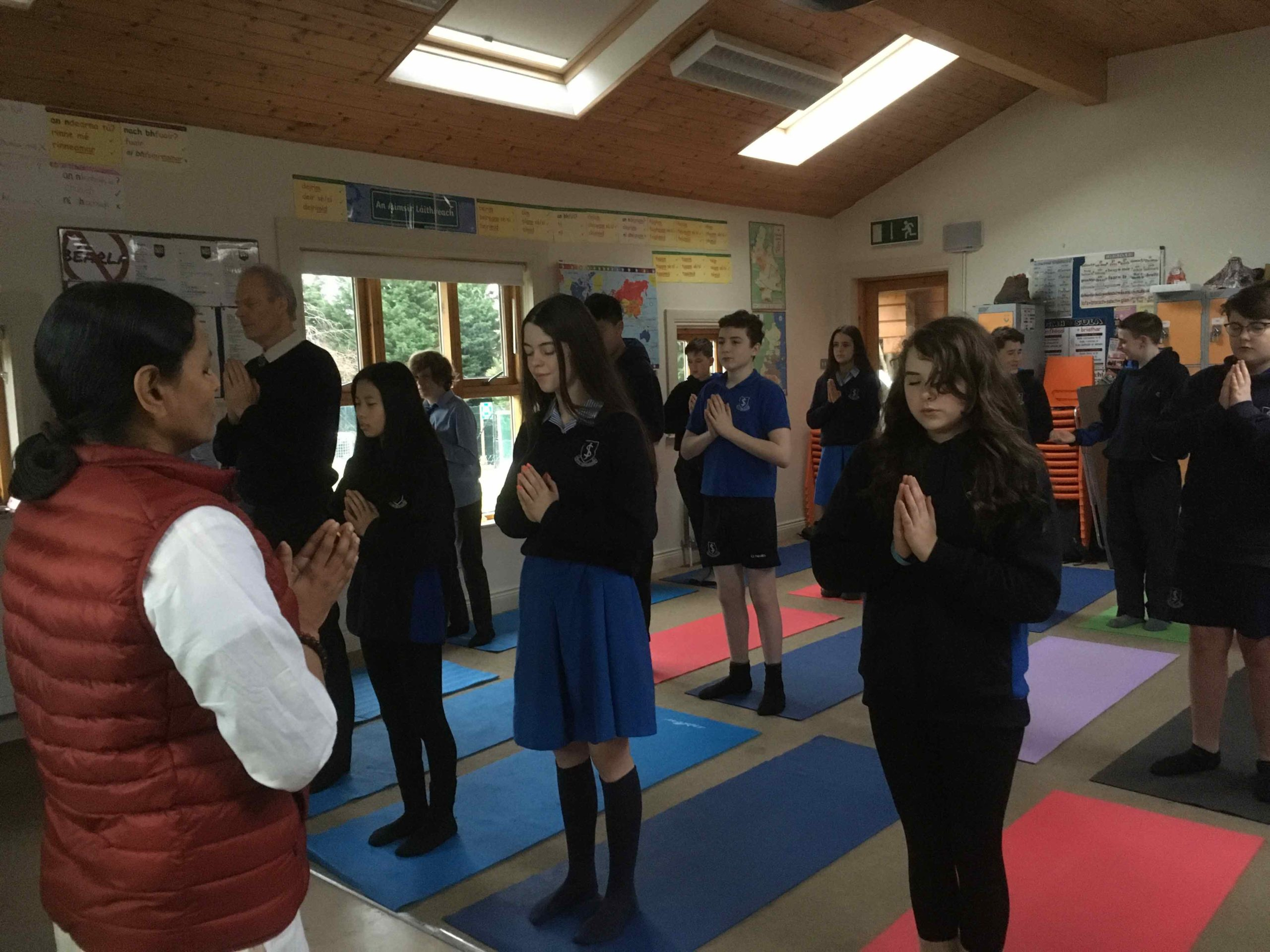 Amrita Yoga at John Scottus Secondary School, Dublin, Ireland
