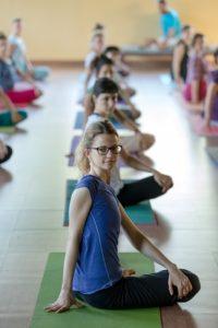 amrita yoga twist pose.