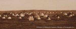 Native American Sun Dance Encampment, circa 1900