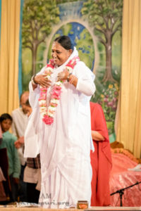 amma with garland divine love