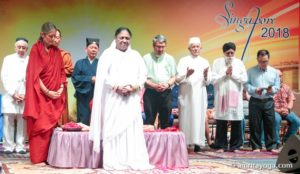 amma in singapore with dignitaries