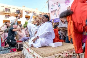amma leading yoga class in santa fe, new mexico