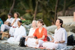 amrita yoga group beach meditation watermarked