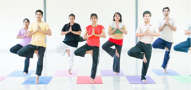 amrita yoga one leg standing asana