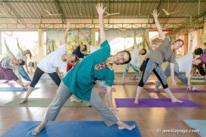 amrita yoga side bend asana watermarked