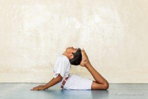 yoga pose asana child backbend