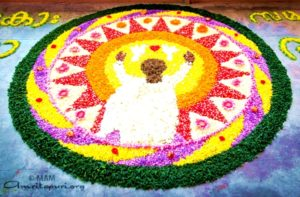 onam festival, amma image, pookalam