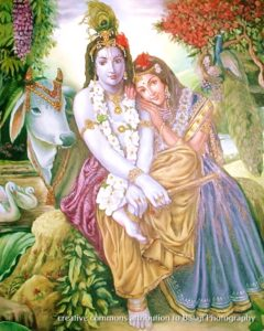krishna and radha, creative commons Balaji Photography
