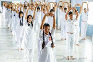 standing pose at amrita yoga youth program