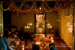 vedic rituals at amritapuri ashram